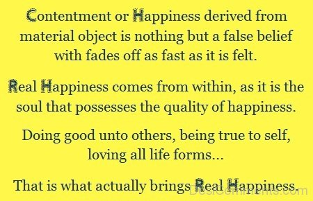 Contentment Or Happiness