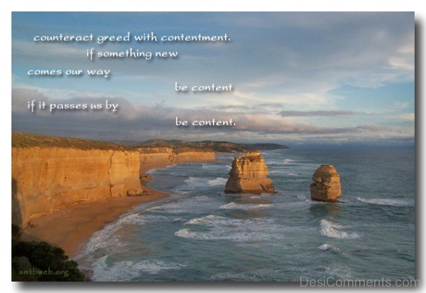Counteract Greed With Contentment