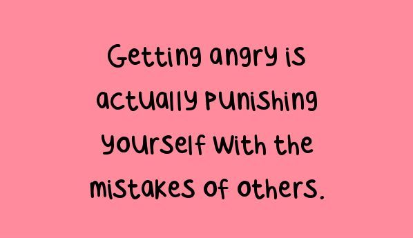 Getting Angry Is Actually Punishing Yourself