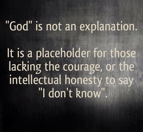 God is not an explanation