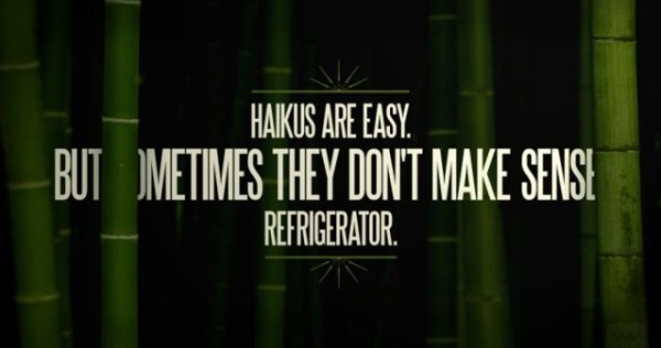 Haikus are easy