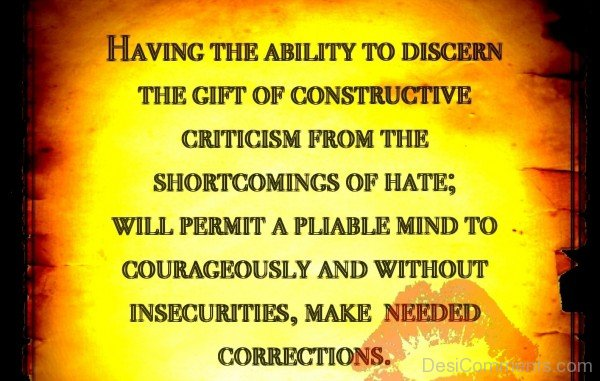 Having The Ability To Discern