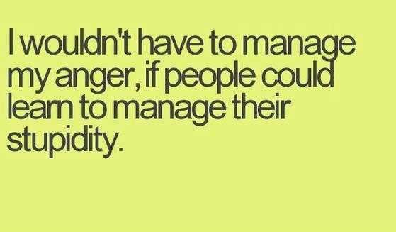 I Would Not Have To Manage My Anger