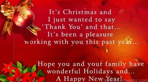 It's Christmas And I Just Want To Say Thankyou
