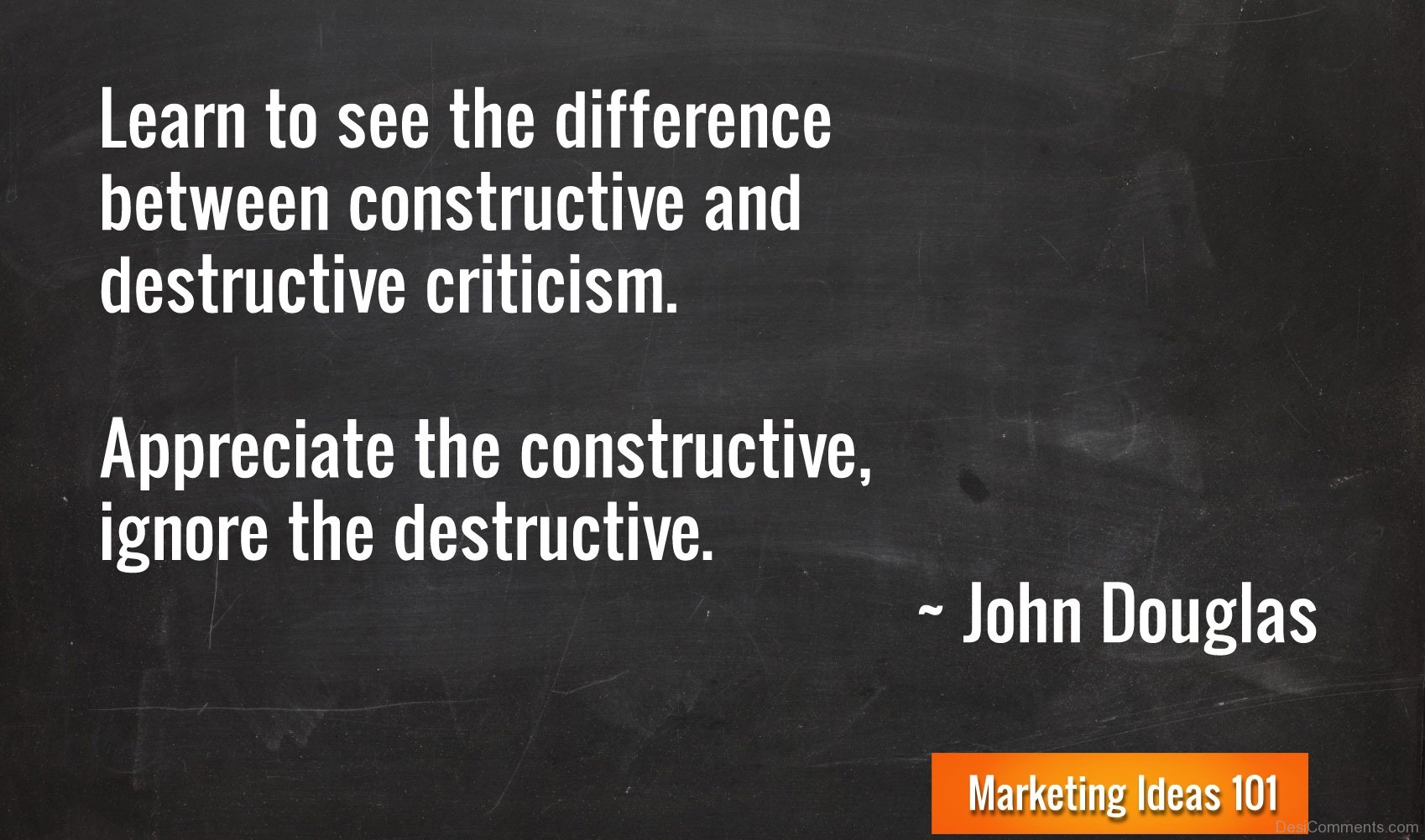 what is the difference between constructive and destructive criticism