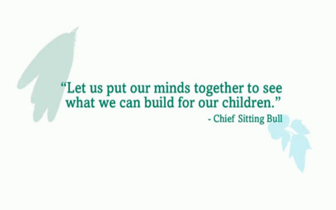 Let us put our minds together to see what we can build for our children