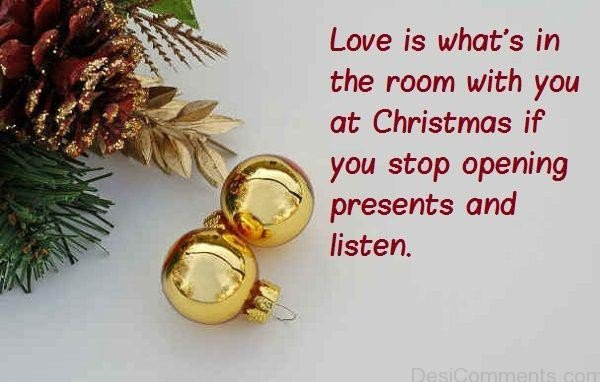 Love Is What's In The Room With You At Christmas