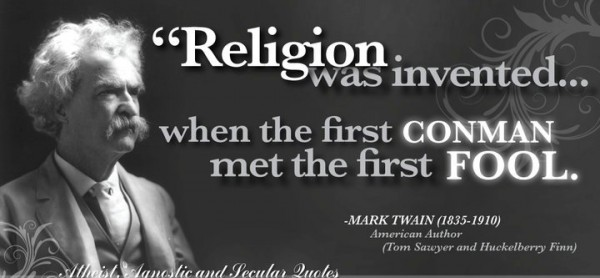 Religion was invented