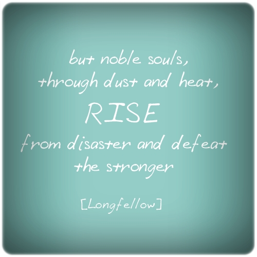 Rise from disaster and defeat the stronger