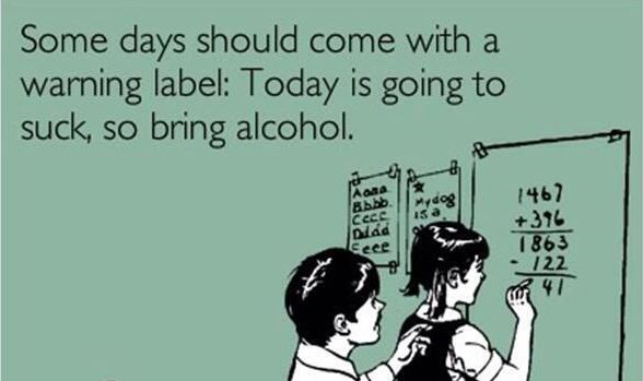 Some Days Should Come Warning Label