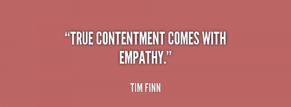True Contentment Comes With Empathy