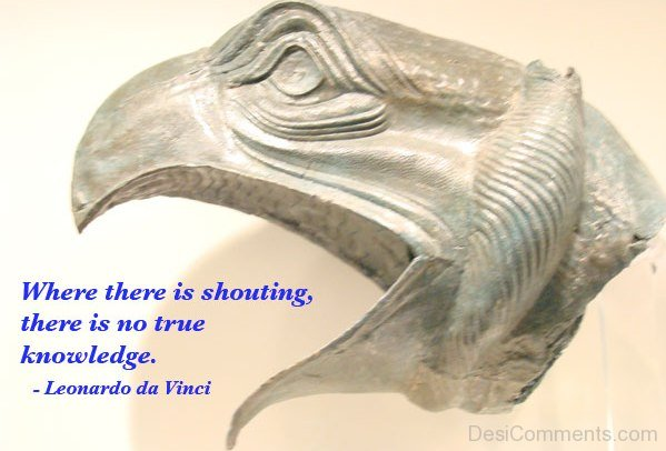 Where There Is Shouting There Is No True Knowledge
