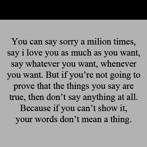 You Can Say Sorry A Millon Times