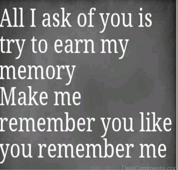 You Remember Me