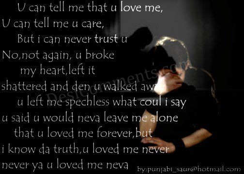 You Never Loved Me Desicommentscom