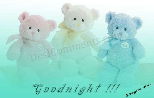 Cute Teddy Good Night