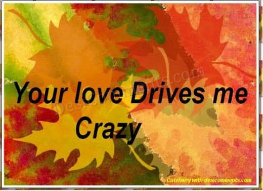 Your love Drives me Crazy