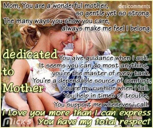 Dedicated to Mother (Mothers day special)