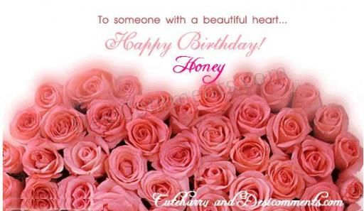 Picture: Happy birthday honey