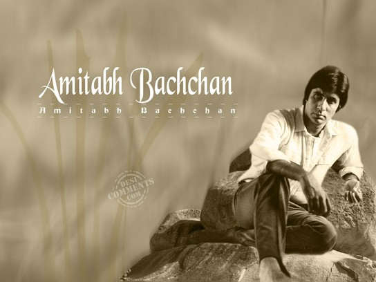 Black And White Image - Amitabh