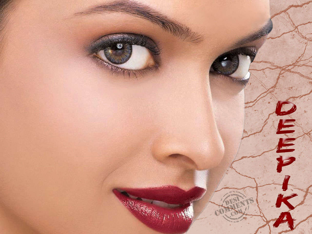 Deepikas Beautiful Eyes - Wallpapers  Desicommentscom