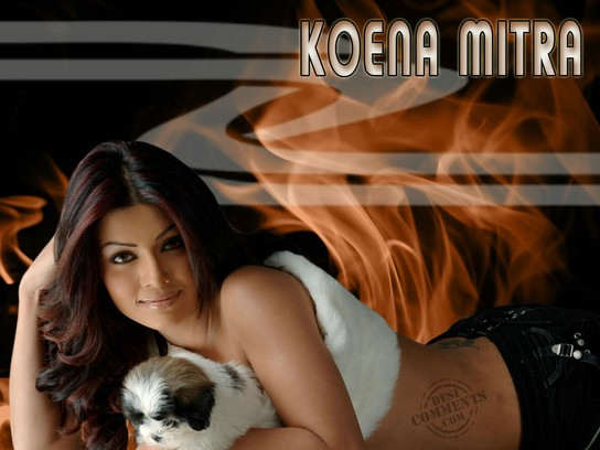 Koena Mitra With Cute Puppy