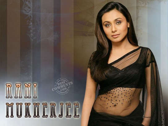 Rani Mukherjee In Black Sari