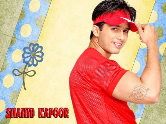 Shahid In Red T-Shirt