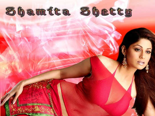 Shamita In Red Dress