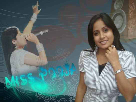 Miss Pooja In Formal Dress