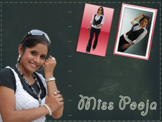 Miss Pooja In Different Style