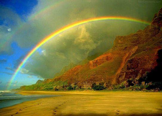 Beautiful Rainbow Nature Mountain