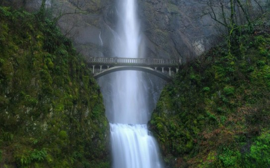 Bridge Over Waterfall