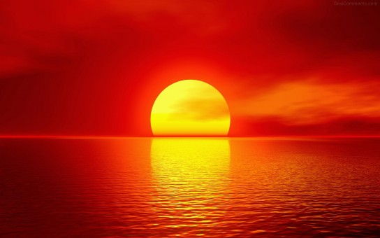 Red-Sky and Sun
