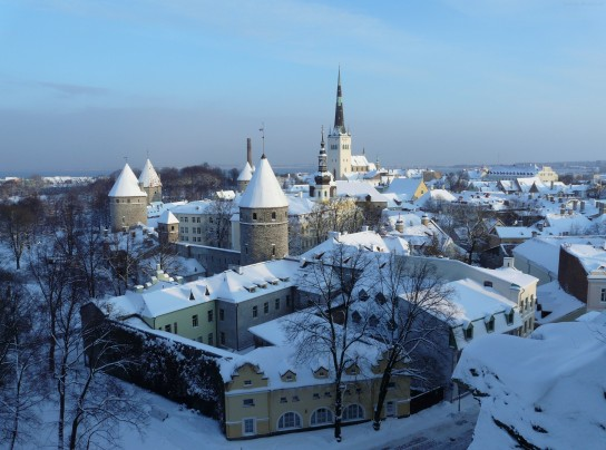 Winter - Tallinn city