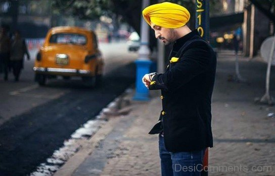 Diljit Dosanjh In Yellow Turban