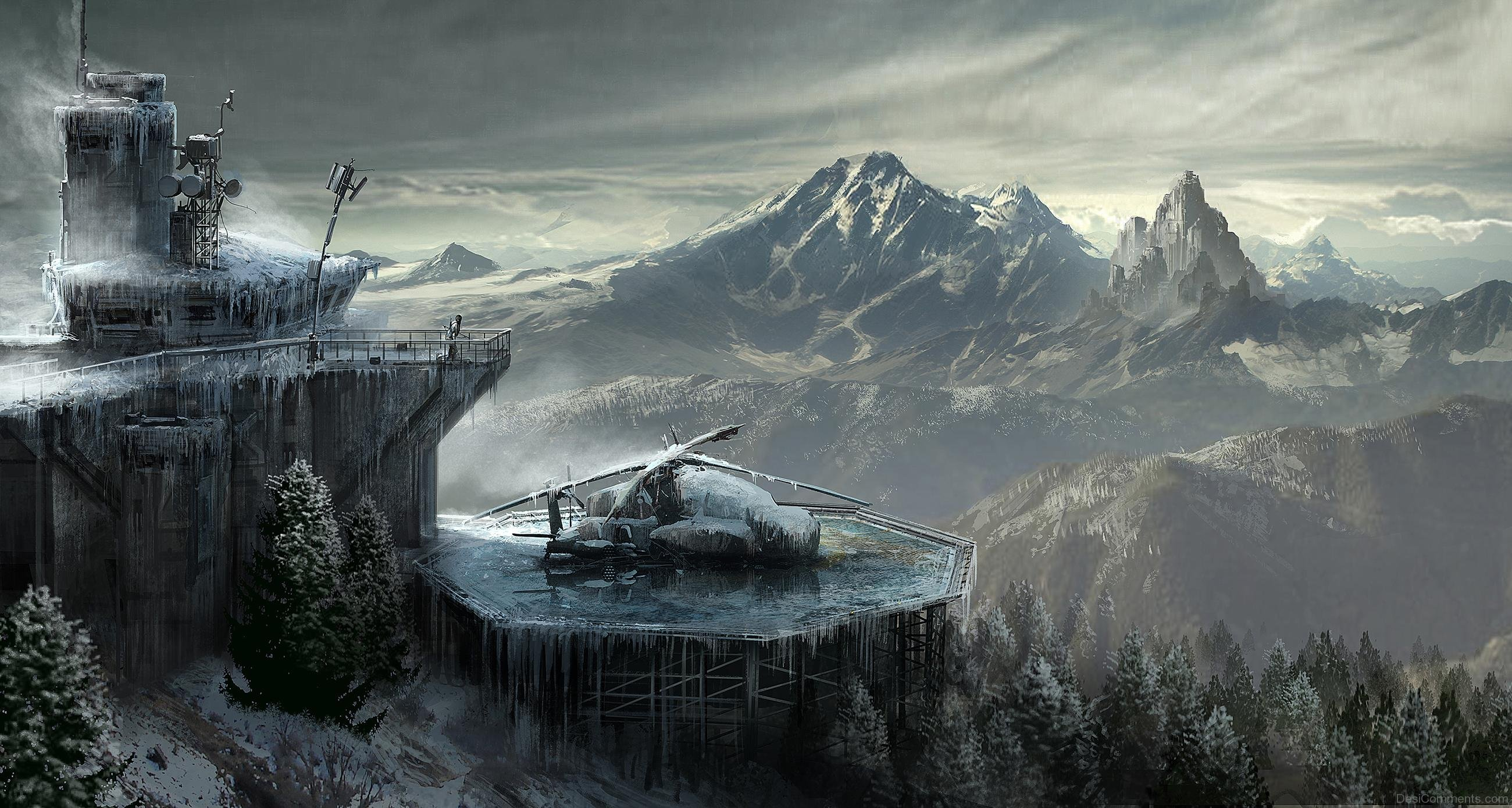 Rise Of The Tomb Raider Game Wallpaper Desicommentscom