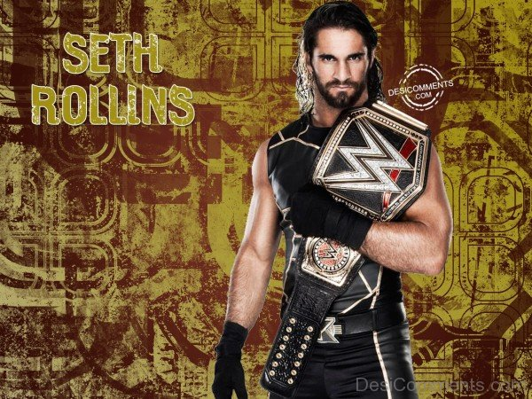 Seth Rollin With Champoinship Belt