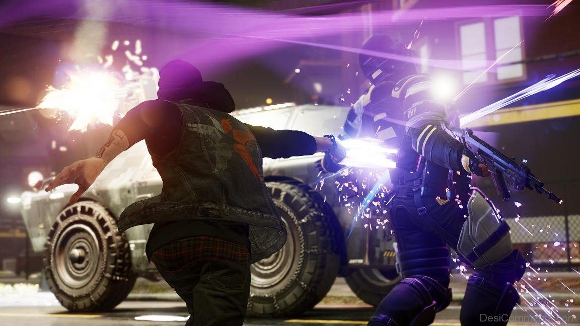 inFAMOUS Second Son free roam - Neon Melee Combat - YouTube