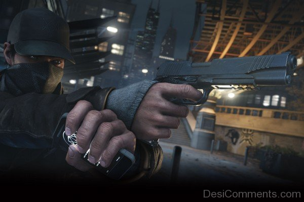 Watch Dogs Aiden Holding Phone And Gun