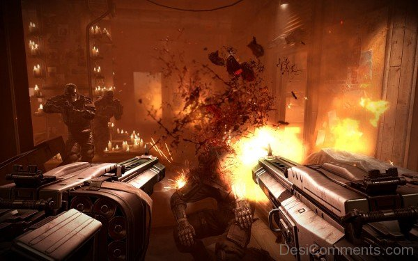 Wolfenstein The New Order Game Row Bumping Heads