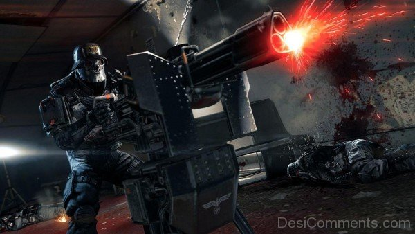 Wolfenstein The New Order - Machine Gun Screenshot