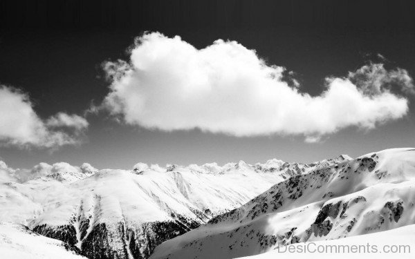 Black And White Wallpaper Of Clouds