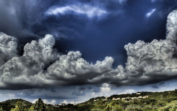 Clouds Over Hilly Area