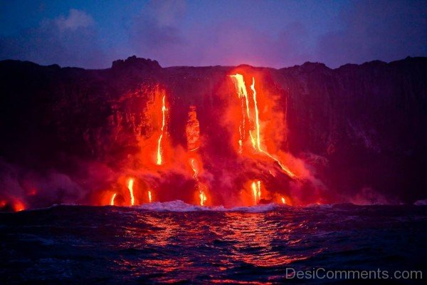 Lava Flow Into Ocean-DESI1207