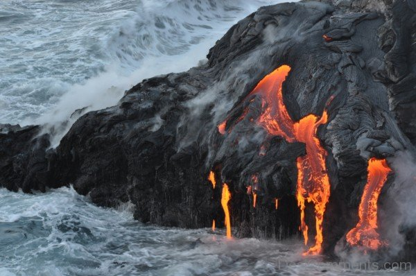 Lava Flow Into The Sea-DESI1234