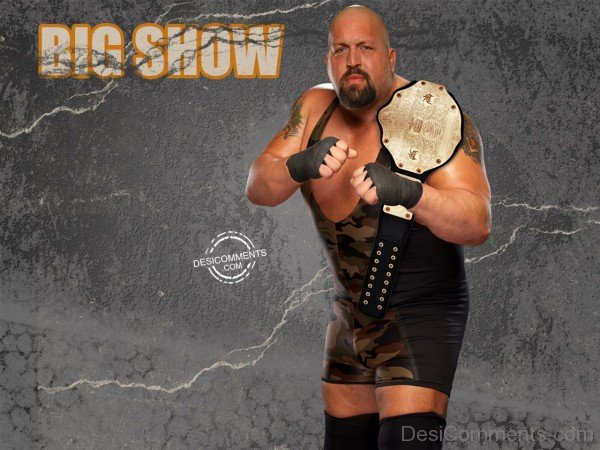 Big Show With Championship Belt