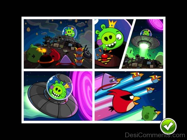Angry Birds Space Cartoon Background Image-DC022