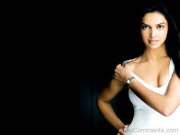 Actress Deepika Padukone Wearing White Dress-DC16