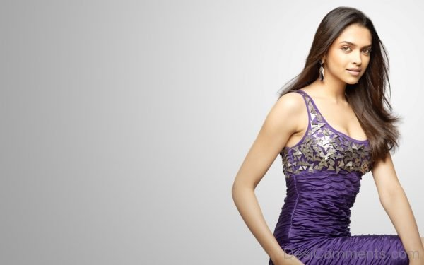 Deepika Padukone In Purple Dress-DC48